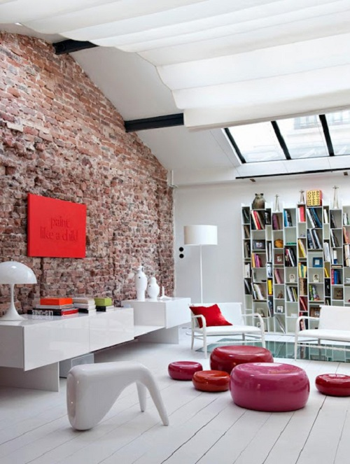 un bellissimo loft a parigi interior break. Black Bedroom Furniture Sets. Home Design Ideas