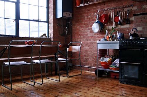 Loft a londra for Arredamento industriale ikea