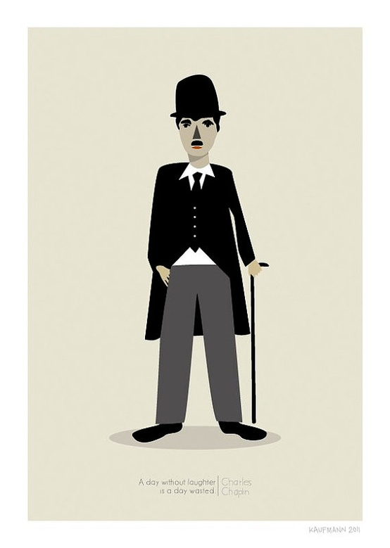 Charlie Chaplin Print by Judy Kaufmann