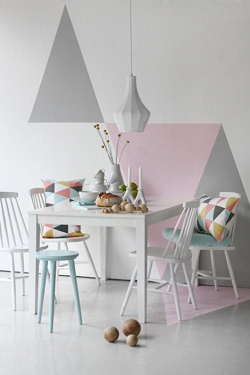 geometric painted wall 1