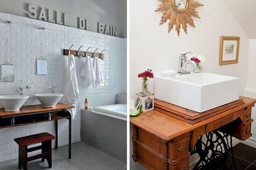 Mobili per il bagno alternativi - Tavolo con macchina da cucire ...
