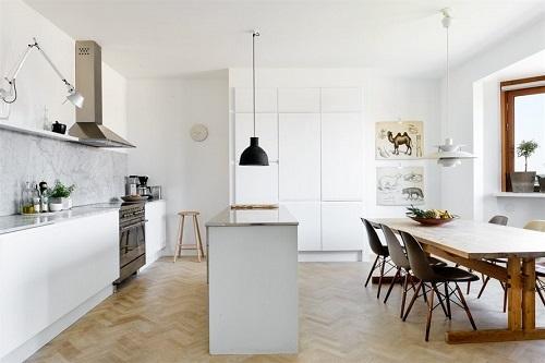 Cucina Bianca E Legno ~ Idea Creativa Della Casa e Dell\'interior ...