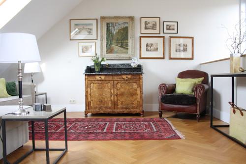 Una casa eclettica a bruxelles interior break for Arredamento mix antico moderno