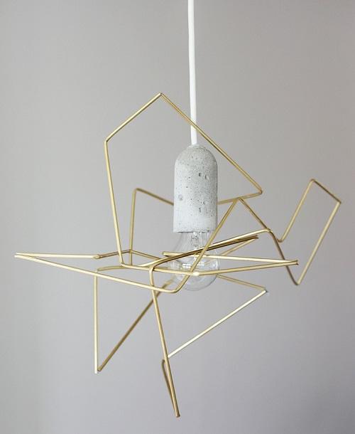 geometric lampshade DIY by weekdaycarnival