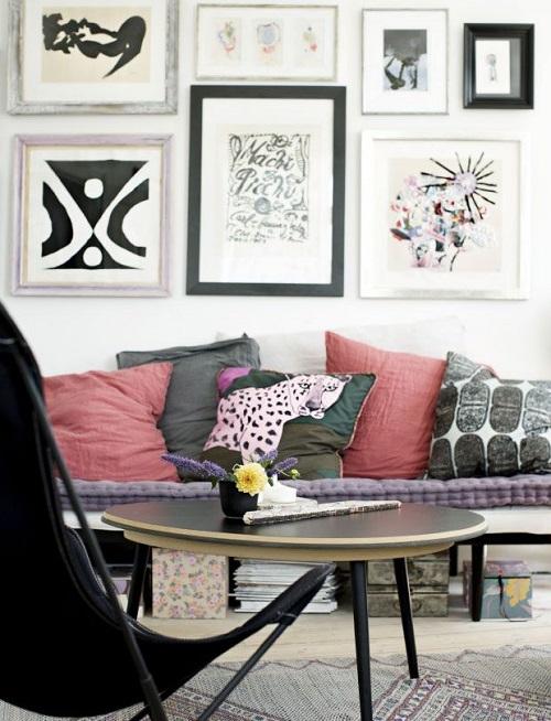 Estremamente decorare la parete dietro al divano DP43