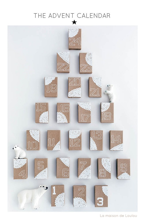 Holiday craft by La maison de Loulou-advent calendar