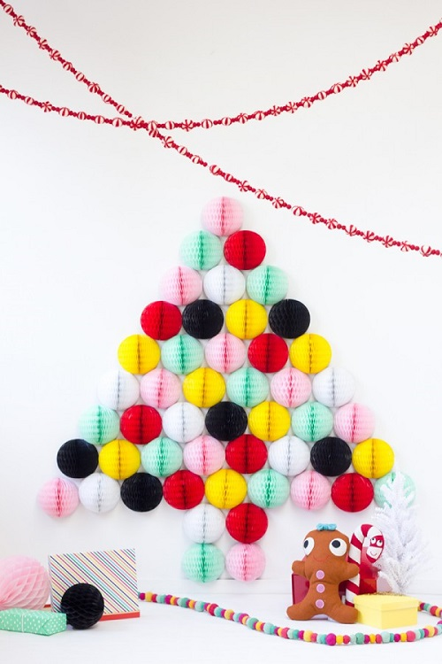 DIY honeycomb christmas tree-studiodiy