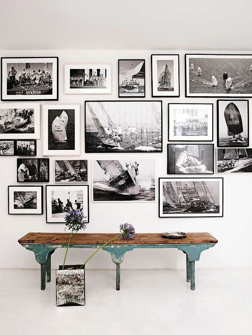 Gallery Wall Ideas Black And White : Cornici