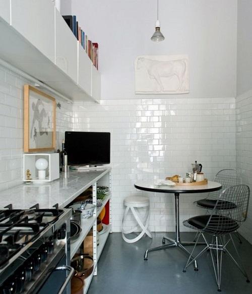 Piastrelle bianche - Piastrelle cucina rosse ...