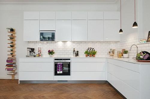 Piastrelle bianche for Carrelage de cuisine moderne