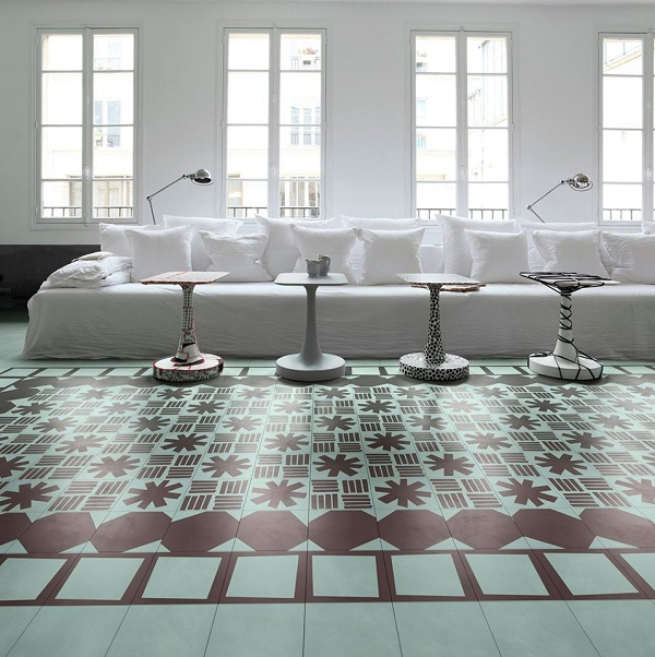 contemporary cement tiles di bisazza