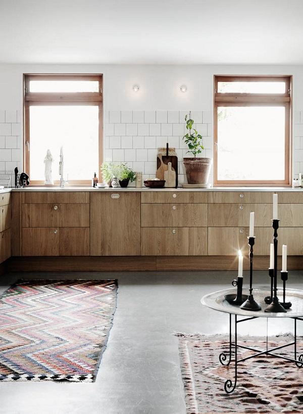 i miei preferiti della settimana - cucina in legno con candele