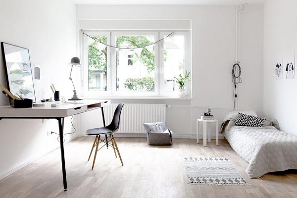 Un bel mix di vintage e moderno interior break - Angolo studio in camera da letto ...