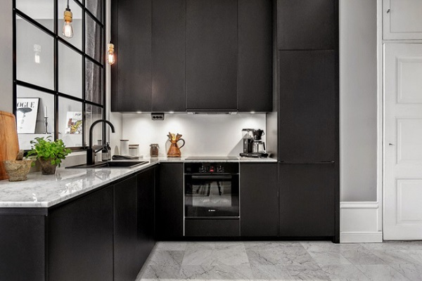 Cucine nere interior break for Cucina nera