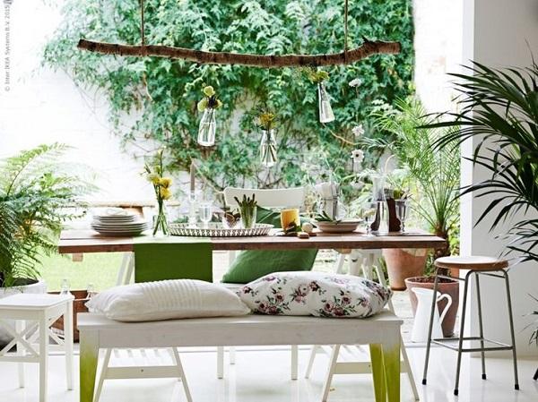 weekend all'insegna del relax - zona pranzo con idee fai-da-te