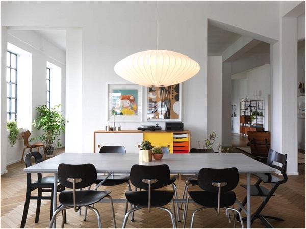 casa della fondatrice di Ferm Living - zona pranzo