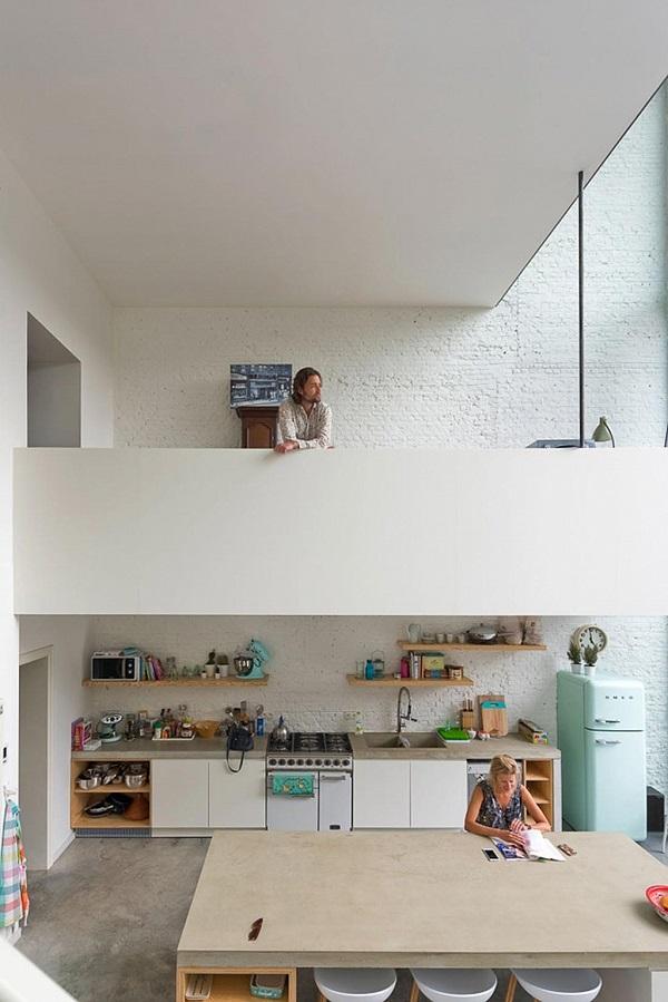 cucina con vista - frigorifero Smeg