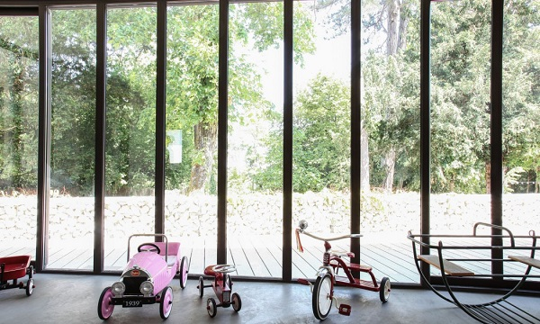 casa eclettica in Borgogna - vetrata