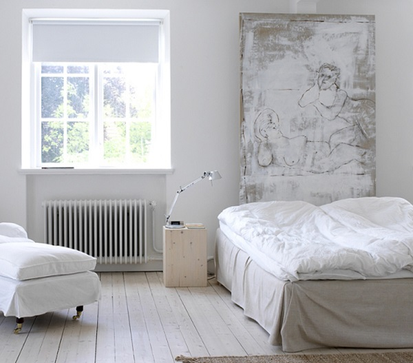 case scandinave - camera da letto dalle tonalità soft