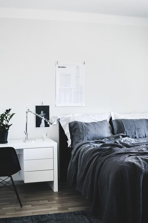 case scandinave - camera da letto con angolo studio