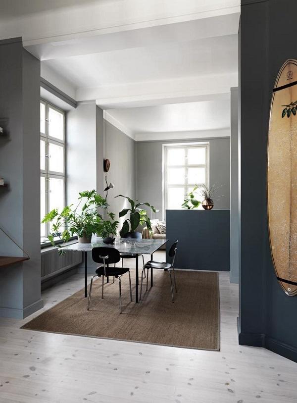 un appartamento nei toni del grigio