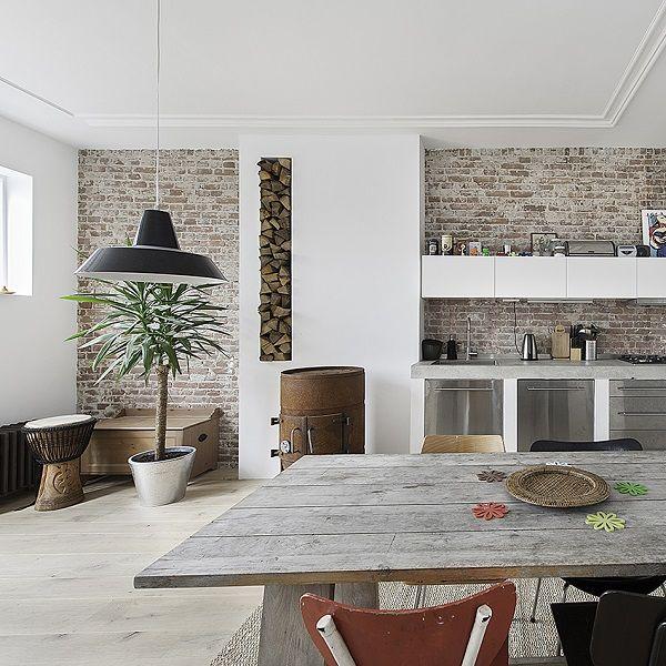 Tavoli in legno grezzo interior break - Piastrelle esagonali cucina ...