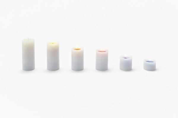 sunset candle - nendo