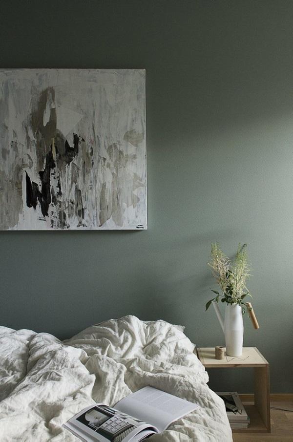 Parete Camera Da Letto Verde : Una parete verde interior break
