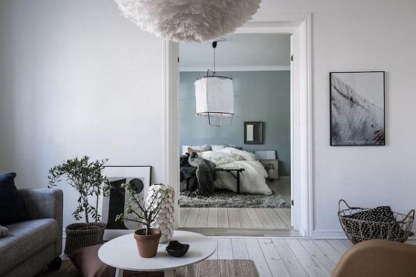 Qualcosa di blu interior break - Camera da letto azzurro polvere ...