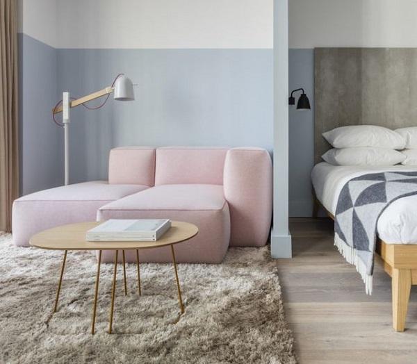 divano rosa