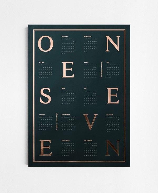 calendario 2017 - kristina krogh