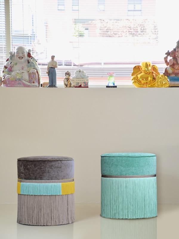 Couture, collezione pouf di Lorenza Bozzoli
