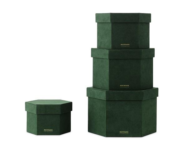 Normann Copenhagen - scatole di velluto