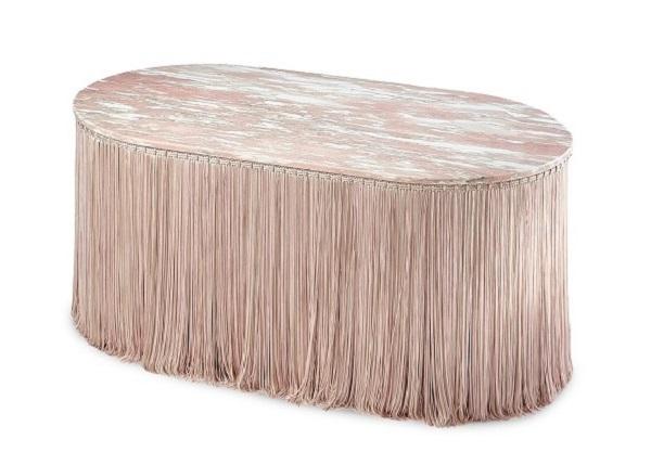 tavolino frange tripolino, cristina celestino, editions milano