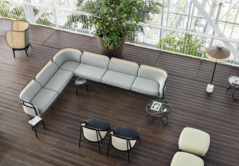 divano TARGA, design GamFratesi per Gebruder Thonet Vienna