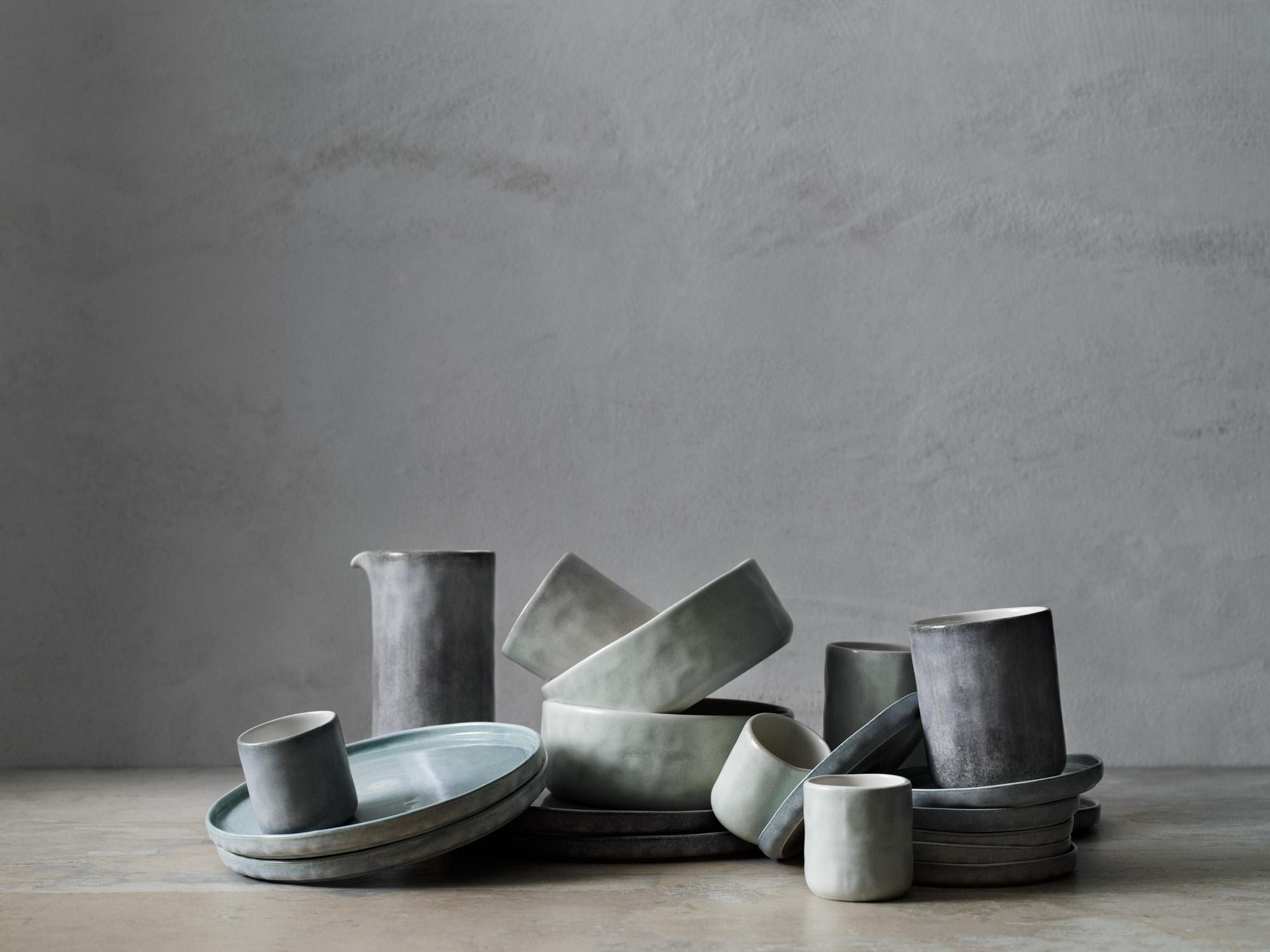 piatti e tazze in ceramica, azienda svedese Mateus