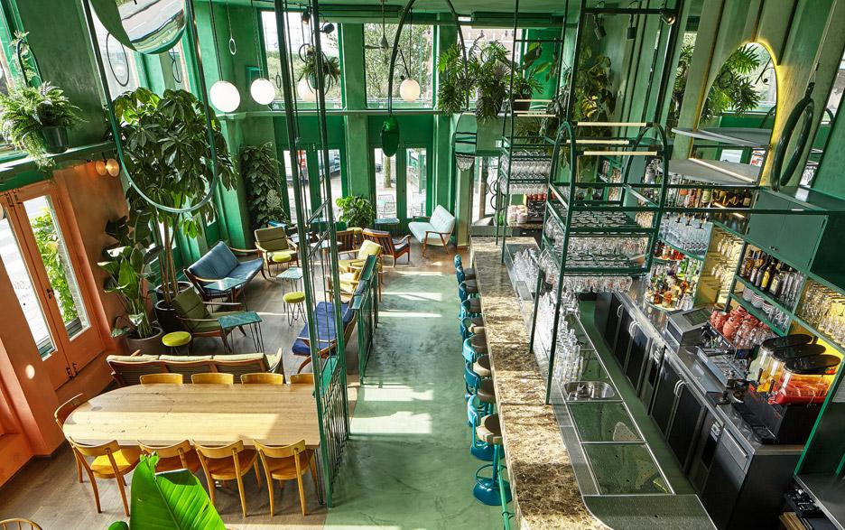 ristoranti bar trend greenery
