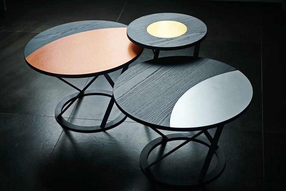 tavolini Moon Phases, design Andrea Vecera
