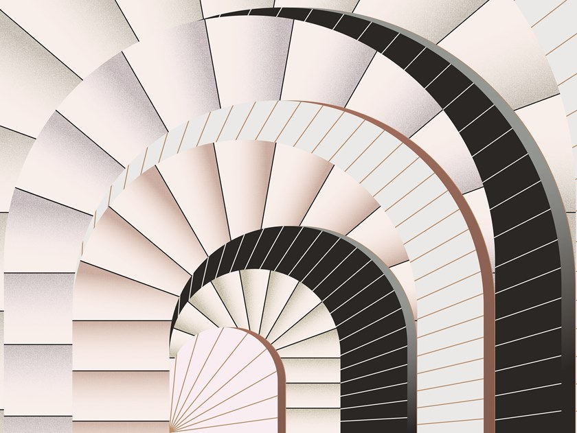 trend archi: carta da parati Vault, Texturae