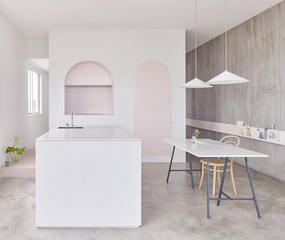 casa tonalità rosa