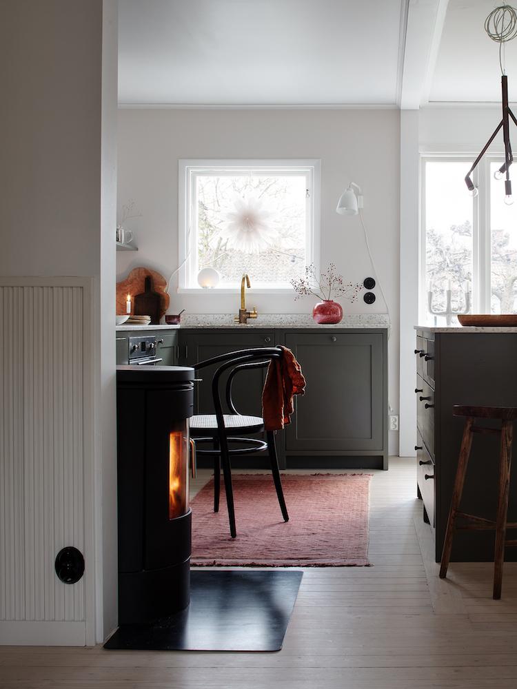 casa svezia colori caldi